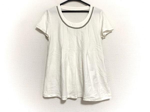 ヒロコビス 半袖Tシャツ サイズ11 M レディース美品  アイボリー×シルバー ラメ