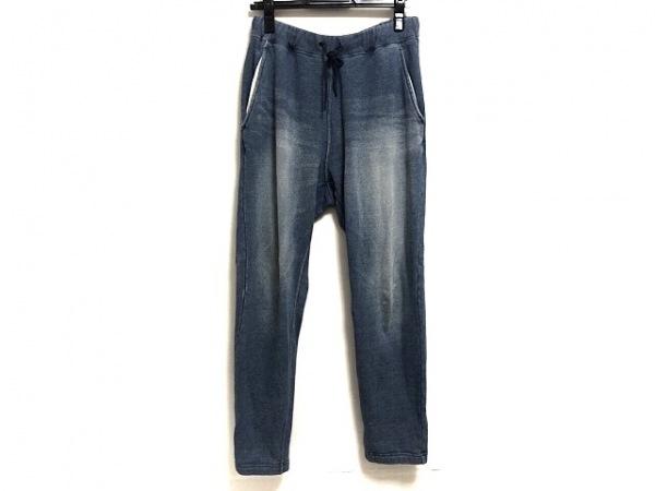 ロンハーマン パンツ サイズL メンズ ネイビー×アイボリー ウエストゴム/色落ち加工