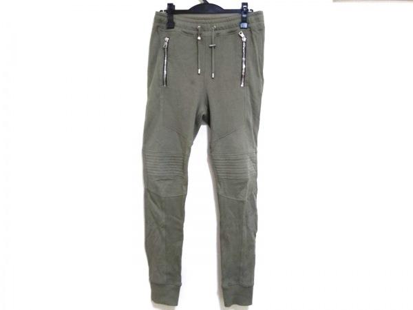BALMAIN(バルマン) パンツ サイズM メンズ カーキ スウェットバイカーパンツ