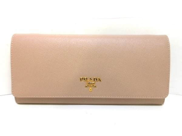 プラダ 財布 - 1M1290 ピンクベージュ ショルダーウォレット/ストラップ取り外し可