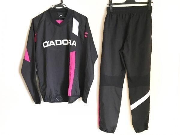 ディアドラ レディースパンツセットアップ サイズM レディース 黒×白×ピンク