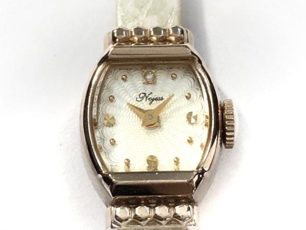 NOJESS(ノジェス) 腕時計 - レディース 型押し加工 アイボリー