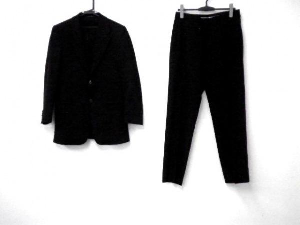 エンポリオアルマーニ シングルスーツ メンズ ダークグレー×黒×ライトグレー
