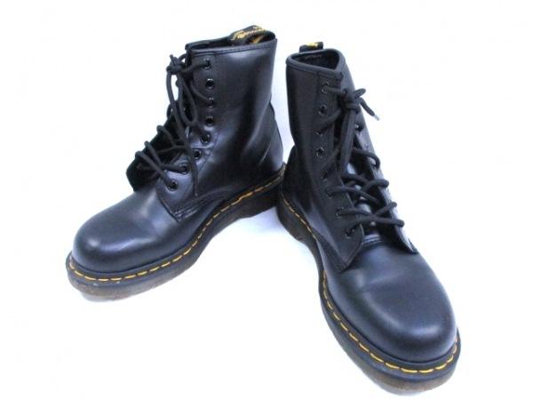 ドクターマーチン ショートブーツ レディース 黒 Air Wair/8ホール レザー