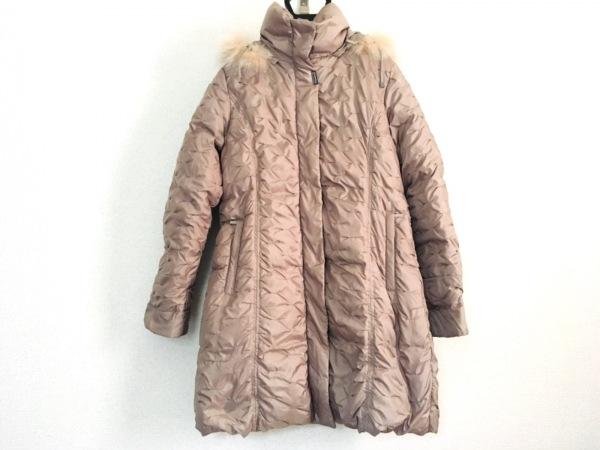 BALMAIN(バルマン) ダウンコート サイズM レディース美品  ベージュ 冬物/ファー