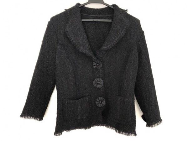 NOKO OHNO(ノコオーノ) ジャケット サイズ40 M レディース 黒 シワ加工