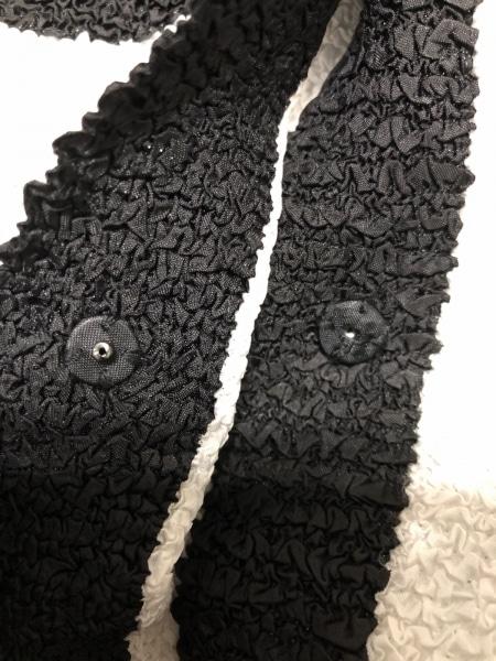 ノコオーノ カーディガン サイズ40 M レディース 白×黒 シワ加工/スパンコール