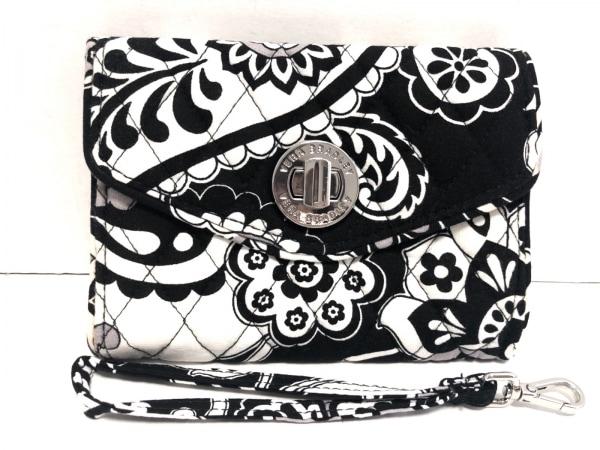 Vera Bradley(ベラブラッドリー) 財布 黒×アイボリー 花柄/キルティング コットン