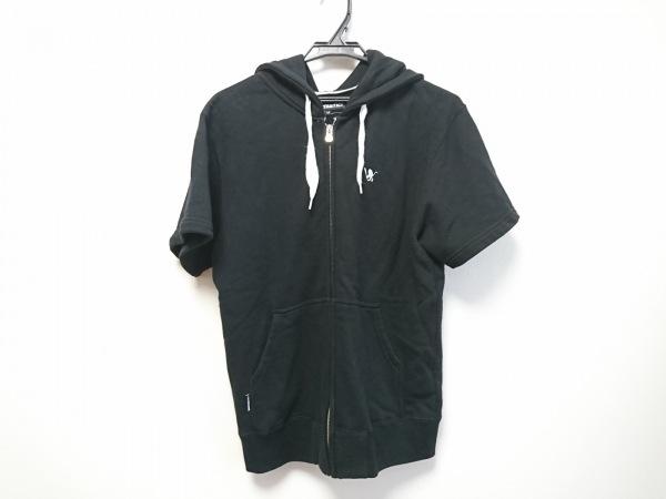 SANTASTIC!(サンタスティック) パーカー サイズM メンズ美品  - - 黒 半袖