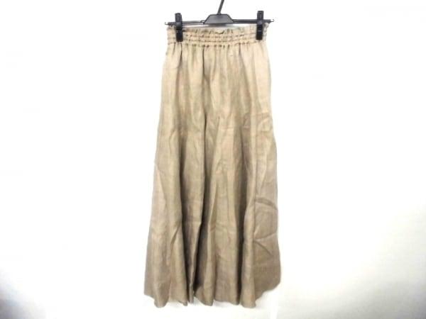 ミラオーウェン ロングスカート サイズ38 M レディース ベージュ ウエストゴム