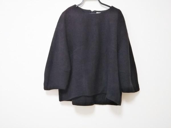 aA(アルファエー) 七分袖セーター サイズ38 M レディース美品  黒
