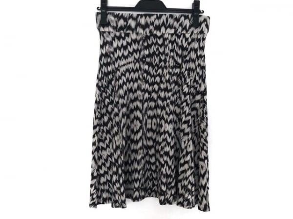 three dots(スリードッツ) スカート サイズXS レディース 黒×アイボリー
