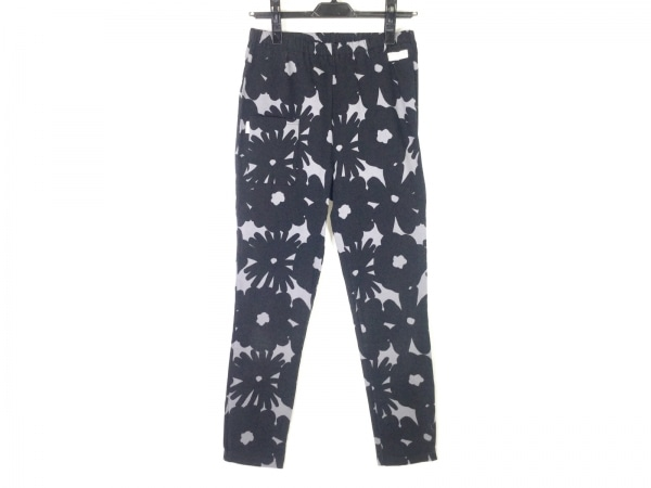 SOU・SOU(ソウソウ) パンツ サイズL レディース 黒×グレー ウエストゴム/花柄