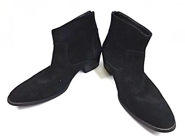 JACKROSE(ジャックローズ) ショートブーツ 43 メンズ 黒 Luv maison スエード