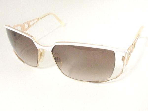 カザール サングラス MOD.9053 ブラウン×白×ゴールド プラスチック×金属素材