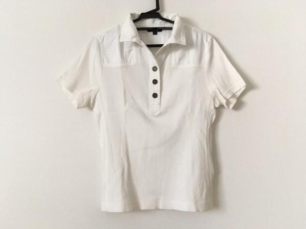 Burberry LONDON(バーバリーロンドン) 半袖ポロシャツ サイズ2 M レディース 白