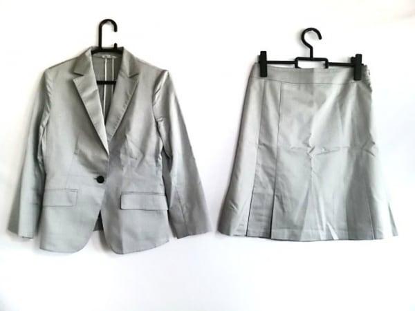 組曲 KUMIKYOKU(クミキョク) スカートスーツ サイズ3 L レディース グレー