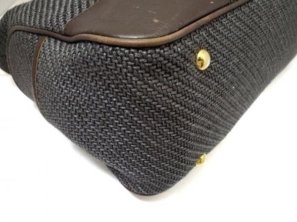 ガリャルダガランテ ハンドバッグ ダークグレー×ダークブラウン 化学繊維×合皮