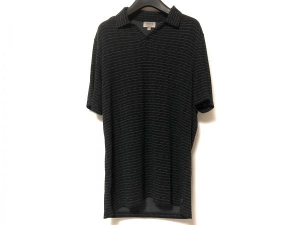 アルマーニコレッツォーニ 半袖カットソー サイズM メンズ 黒×グレー