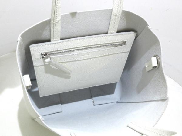 セリーヌ トートバッグ美品  バーティカルカバスモール 189813XBA.01BC 白 レザー
