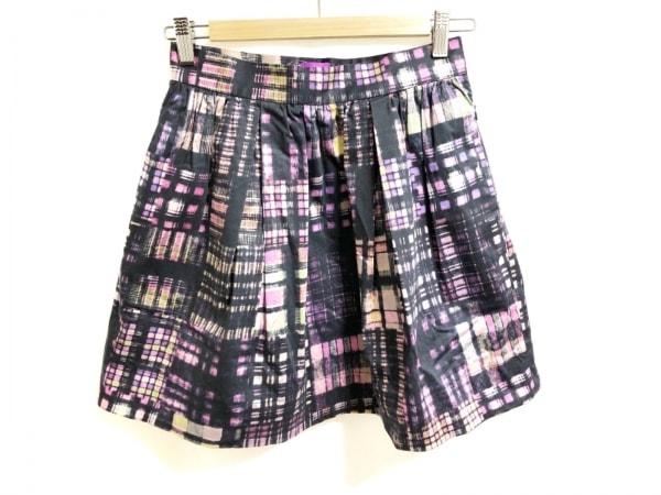 Paul+ PaulSmith(ポールスミスプラス) スカート レディース美品  黒×ピンク×マルチ