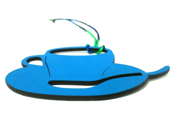 HERMES(エルメス) キーホルダー(チャーム) - ブルー×グレー×マルチ