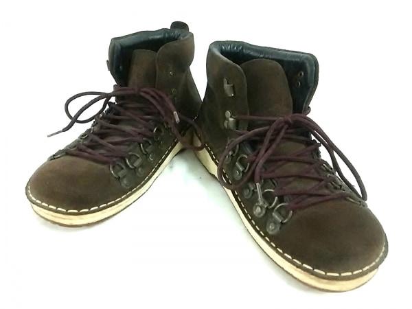 Footprints(フットプリンツ) ショートブーツ 24 レディース ダークブラウン スエード