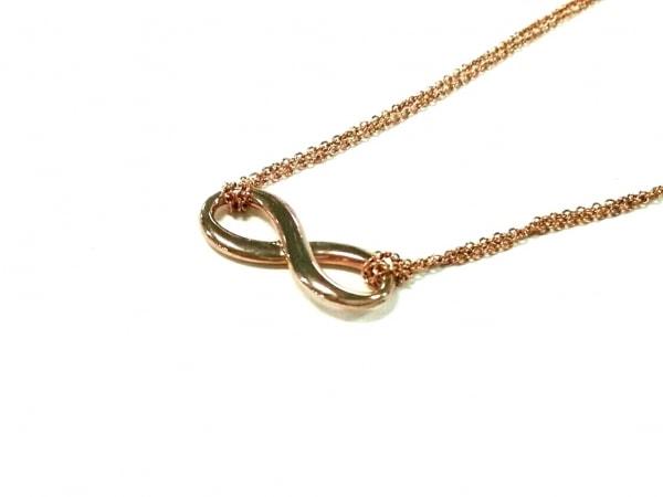 TIFFANY&Co.(ティファニー) ネックレス美品  インフィニティ メタル ゴールド