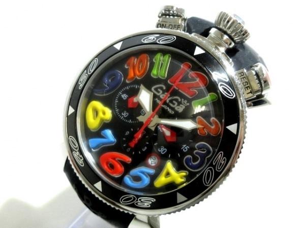 GAGA MILANO(ガガミラノ) 腕時計 MM48 メンズ クロノグラフ 黒