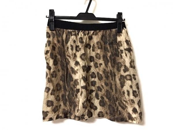 トーガプルラ スカート レディース美品  ベージュ×ダークブラウン×黒 豹柄