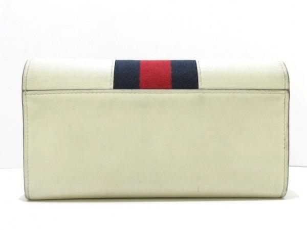 GUCCI(グッチ) 長財布 シルヴィ 476084 アイボリー×レッド×マルチ レザー×化学繊維