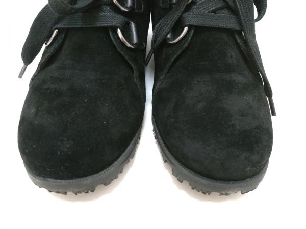 HUSH PUPPIES(ハッシュパピーズ) ショートブーツ 24.5 レディース 黒×ライトグレー