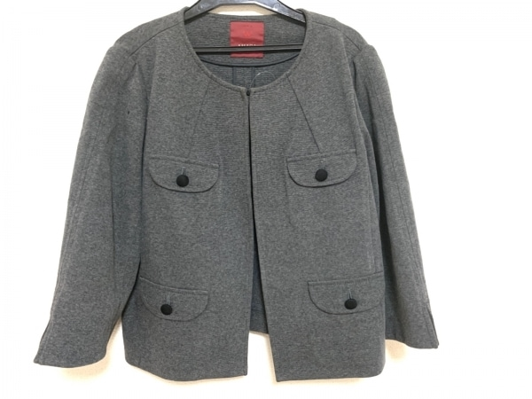 AMACA(アマカ) ジャケット サイズ40 M レディース美品  ダークグレー
