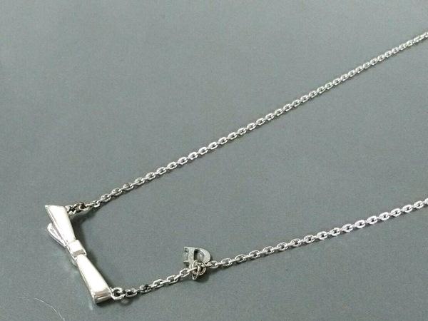 ChristianDior(クリスチャンディオール) ネックレス美品  金属素材 シルバー×ピンク