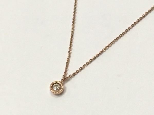 NOJESS(ノジェス) ネックレス美品  K10×ダイヤモンド 0.07カラット