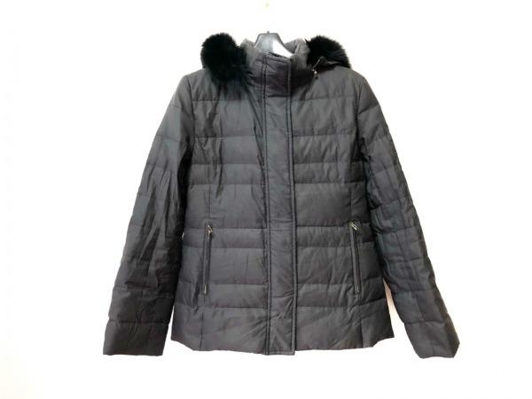 MICHELKLEIN(ミッシェルクラン) ダウンコート サイズ38 M レディース 黒 冬物/ファー