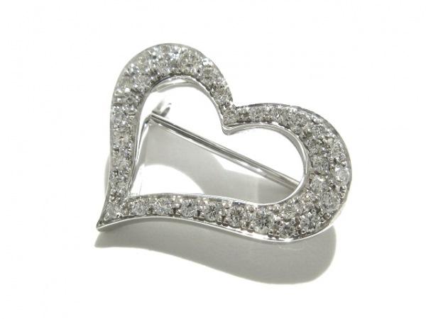 PIAGET(ピアジェ) ブローチ美品  K18WG×ダイヤモンド 総重量:4.4g/ハート