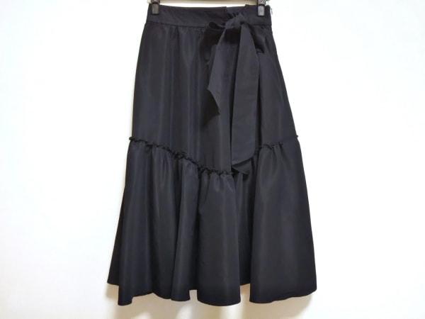 Mila Owen(ミラオーウェン) ロングスカート サイズ0 XS レディース美品  ネイビー