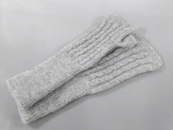 アンティパスト 手袋 7-9 レディース美品  ライトグレー ニット/サイズ:7-9 ウール