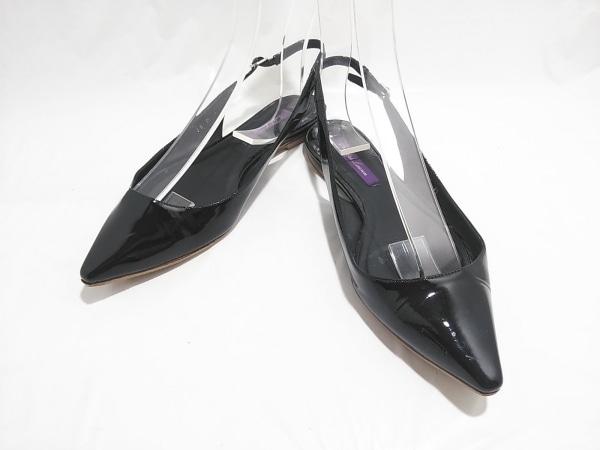 ラルフローレンコレクション パープルレーベル サンダル 36  レディース 黒