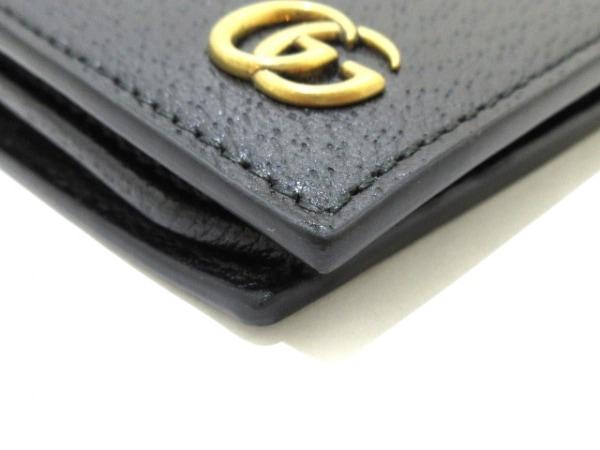 GUCCI(グッチ) 長財布美品  GGマーモント 428740 黒 レザー