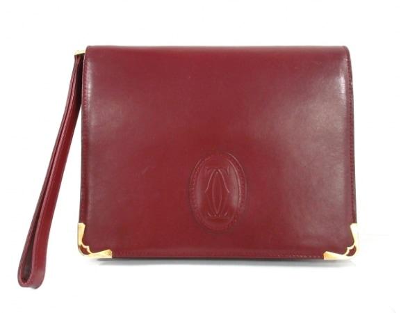 Cartier(カルティエ) セカンドバッグ マストライン ボルドー×ゴールド レザー