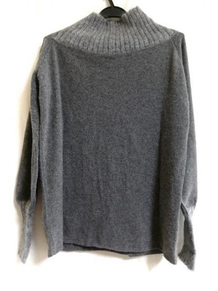アレッサンドロデラクア 長袖セーター サイズ40 M レディース グレー×ライトグレー