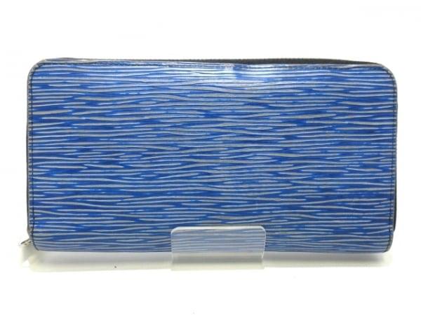ルイヴィトン 長財布 エピ・デニム ジッピー・ウォレット M61862 ブルー