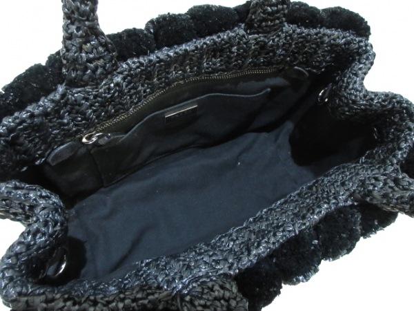PRADA(プラダ) トートバッグ CANAPA 1BG889 黒 ラフィア