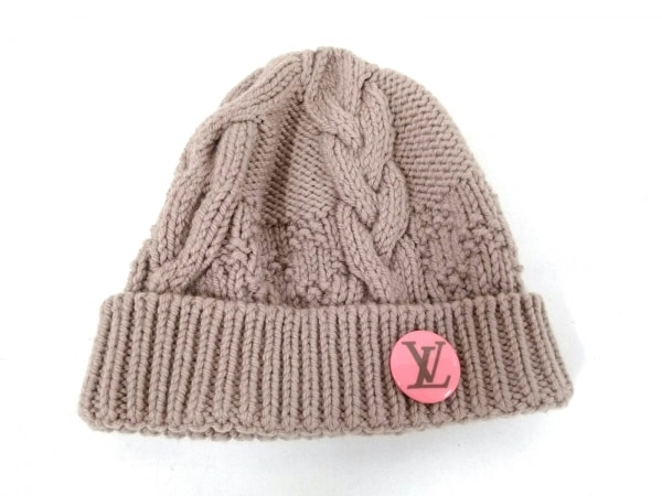 LOUIS VUITTON(ルイヴィトン) ニット帽美品  ブラウン ウール