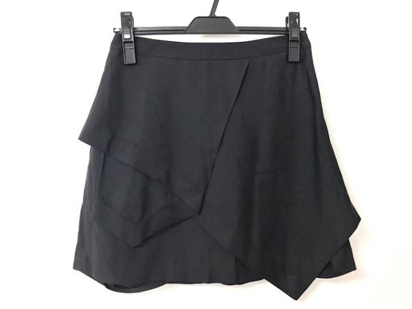 ALEXANDER WANG(アレキサンダーワン) スカート レディース美品  黒 変形デザイン