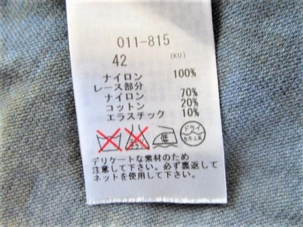 ROSSA(ロッサ) 七分袖カットソー サイズ42 L レディース ネイビー×ベージュ
