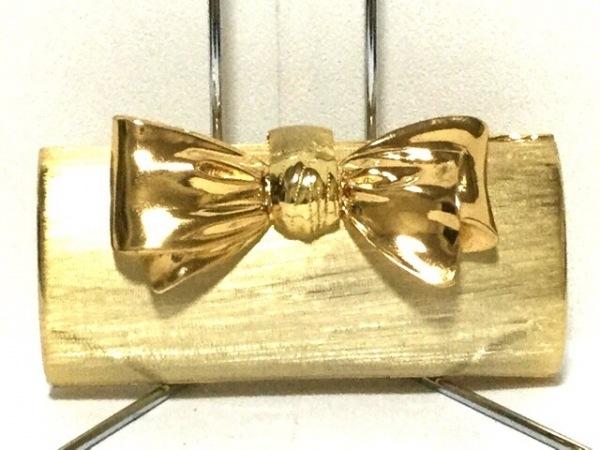RODO(ロド) クラッチバッグ ゴールド リボン 金属素材