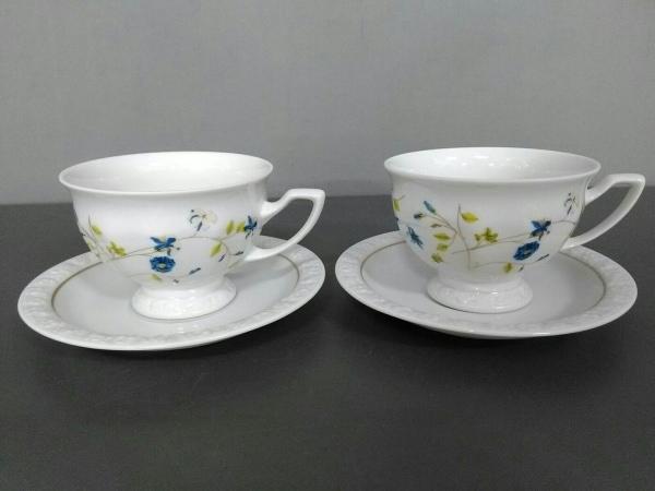 Rosenthal(ローゼンタール) カップ&ソーサー新品同様  白×マルチ 2客セット 陶器